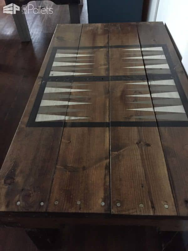 Pallet Backgammon Table Pallet Coffee Tables