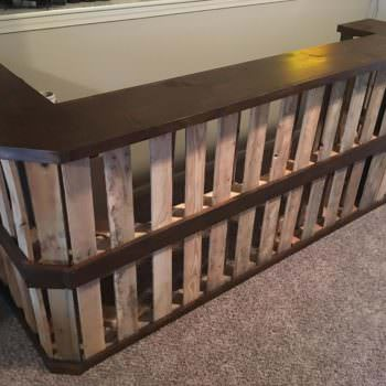 Pallet Bar for the Man-cave