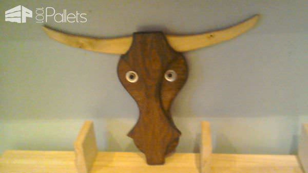 Pallet Cow's Head Wall Art Pallet Wall Decor & Pallet Painting