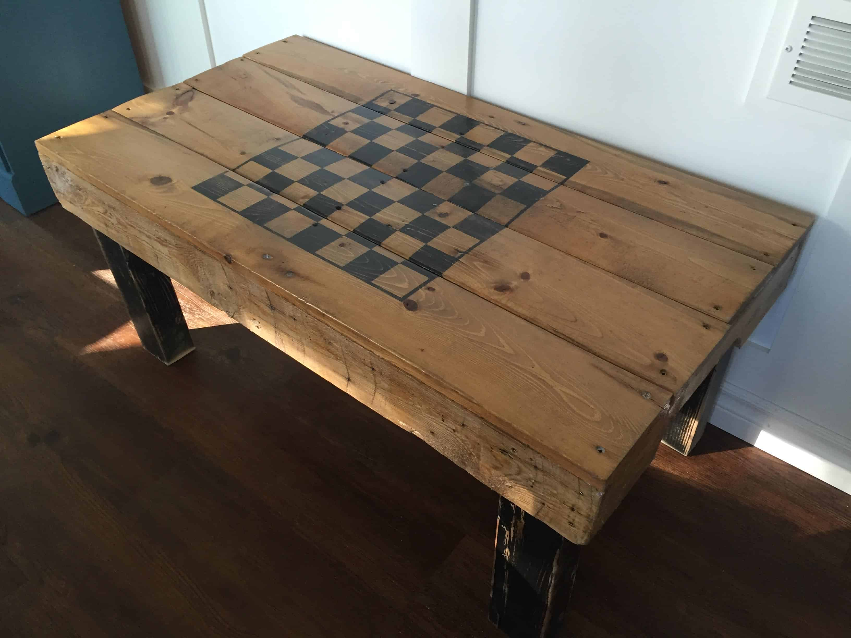 Pallet game coffee table pallet ideas 1001 pallets for Table cuisine palette