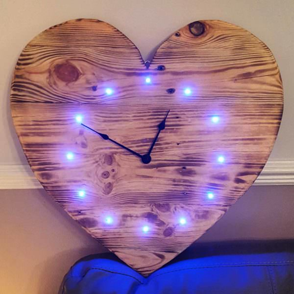 Pallet Heart Clock Pallet Clocks Pallet Wall Decor & Pallet Painting