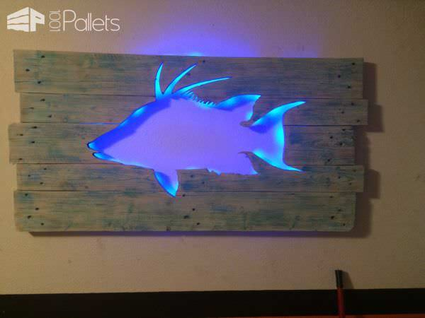 Led Wall Art pallet marlin wall art with led lighting • pallet ideas • 1001 pallets