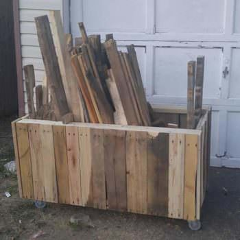 Pallet Project Organization Tip: Make Your Recycled Pallet Wood Box for Less than 10$