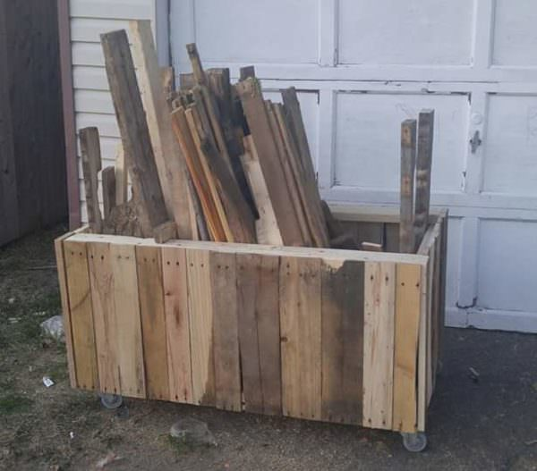 Pallet Project Organization Tip: Make Your Recycled Pallet Wood Box for Less than 10$ Pallet Boxes & Chests