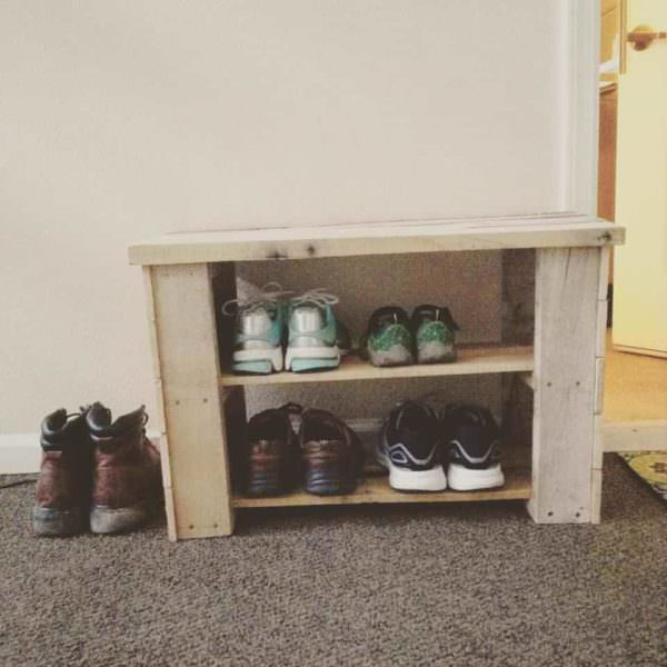 Pallet Shoe Bench Pallet Benches, Pallet Chairs & Pallet Stools Pallet Shelves & Pallet Coat Hangers
