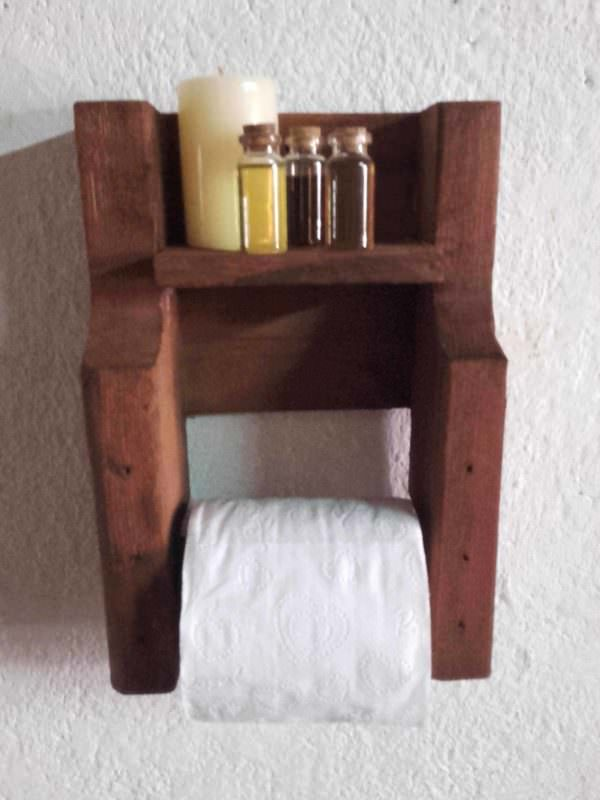 Pallet Toilet Paper Holder Pallet Home Accessories