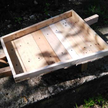 Pallet Wheelbarrow for My Flowers