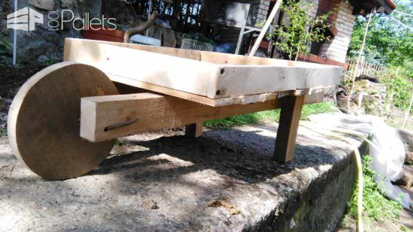 Pallet Wheelbarrow for My Flowers Pallet Home Décor Ideas Pallets in the Garden