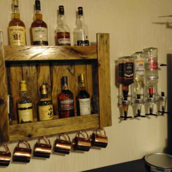 Pallet Whiskeys Shelf for Home Bar