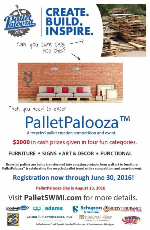 Palletpalooza™ New to the Kalamazoo Area, a Recycled Pallet Creation, Competition & Event DIY Pallet Furniture DIY Pallet Projects Pallet Home Decor Pallets in the Garden