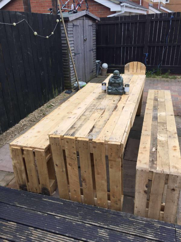 Patio Table & Bench Seats Pallet Benches, Pallet Chairs & Stools