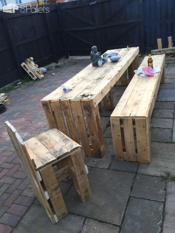 1001pallets.com-patio-table-and-bench-seats3
