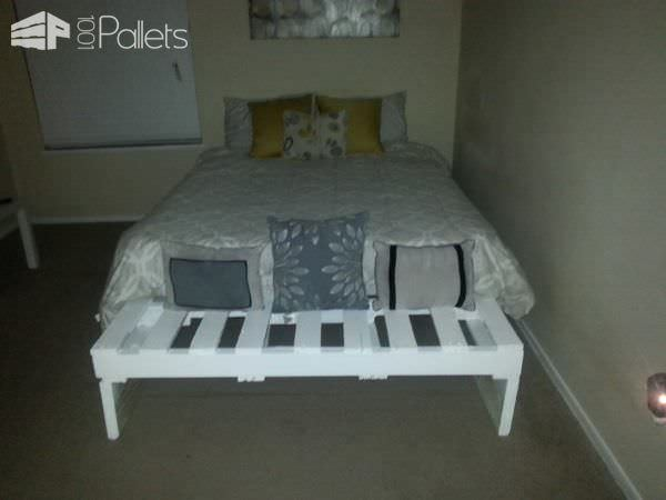 Queen Bed from 3 Pallets Pallet Beds, Pallet Headboards & Frames