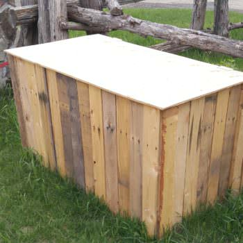 Recycled Pallet Garbage Box
