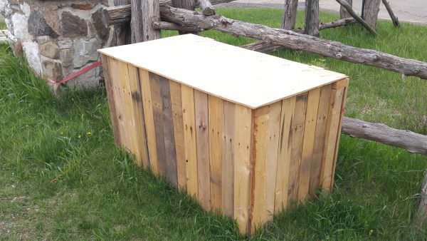 Recycled Pallet Garbage Box Pallet Boxes & Chests