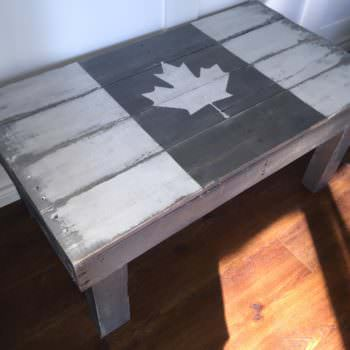 Rustic Flag Pallet Coffee Table