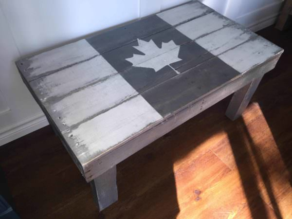 Rustic Flag Pallet Coffee Table Pallet Coffee Tables