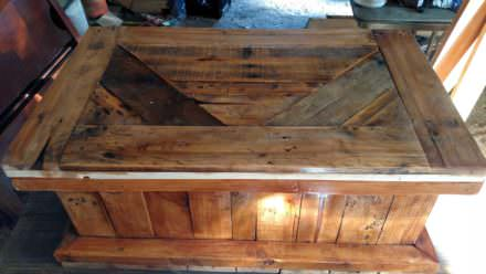 Rustic Pallet Blanket Chest