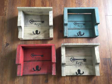 Rustic Pallet Key Holders