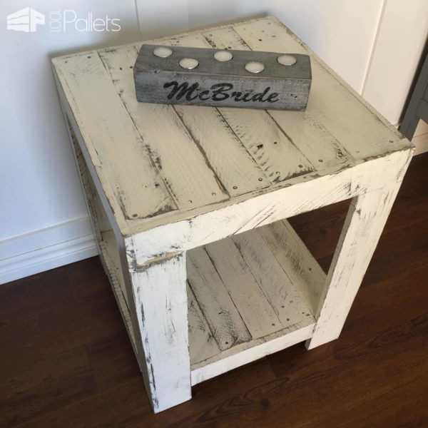 Rustic Pallet Side Table Pallet Desks & Pallet Tables