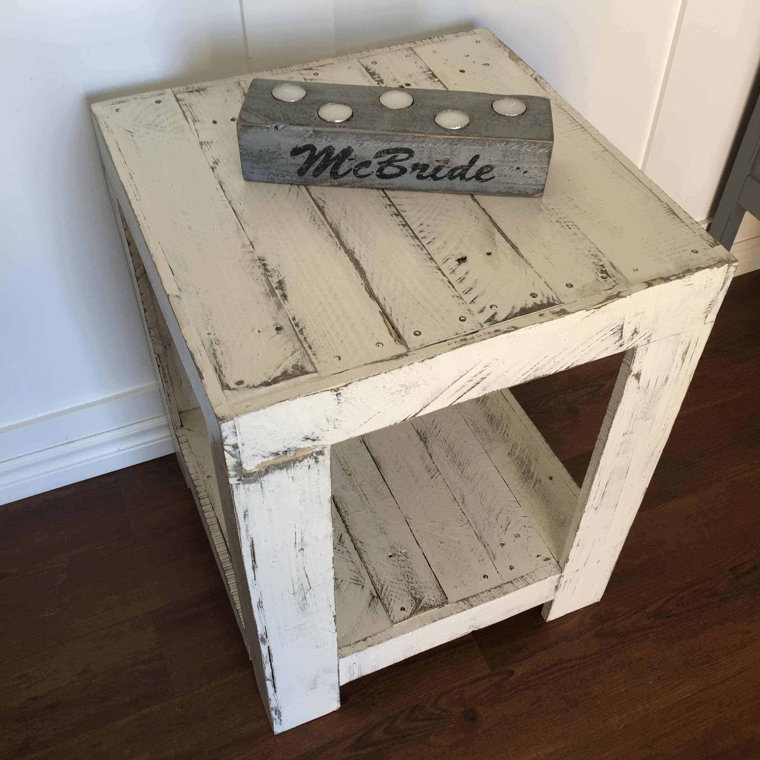 Rustic Pallet Side Table 1001 Pallets