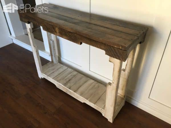 Rustic pallet sofa table 1001 pallets for Sofa table made from pallets