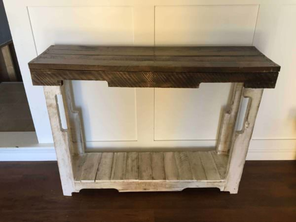 Rustic Pallet Sofa Table Pallet Desks & Pallet Tables