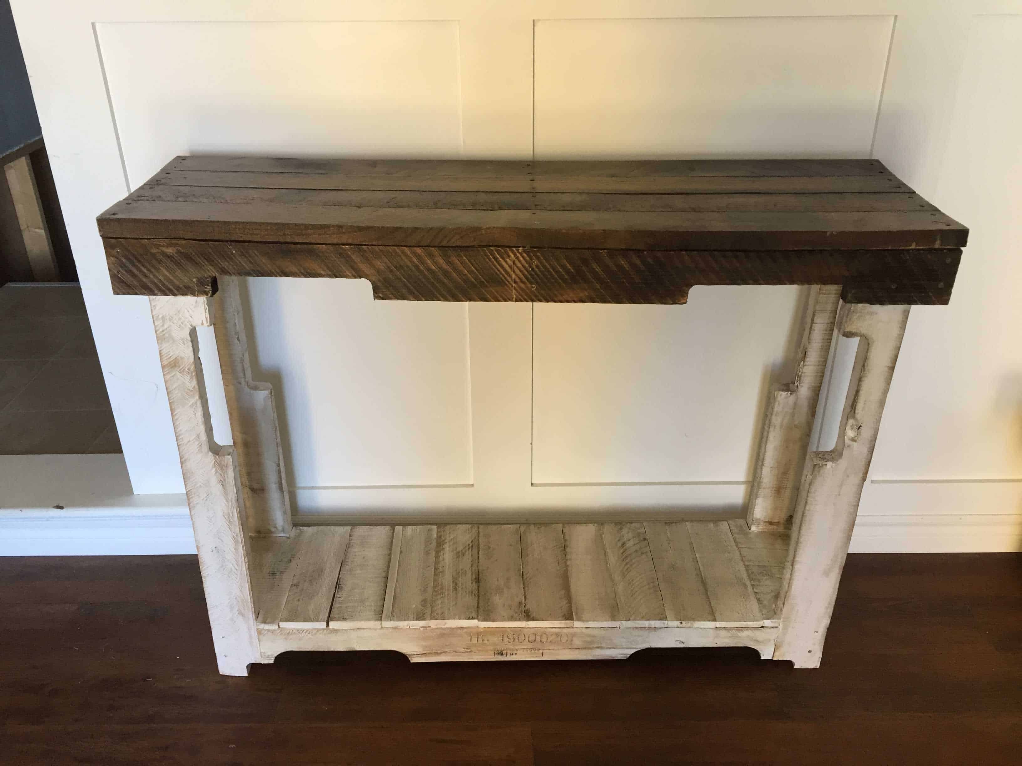 Rustic Pallet Sofa Table • 1001 Pallets
