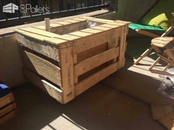 Self Watering Portable Planter Box 1001 Pallets