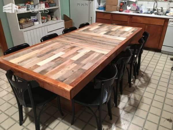Stunning pallet dining table 1001 pallets for Pallet dining table