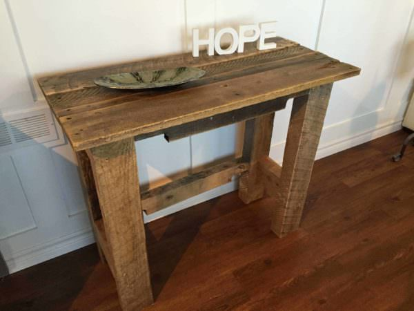Sturdy Pallet Accent Table Pallet Desks & Pallet Tables