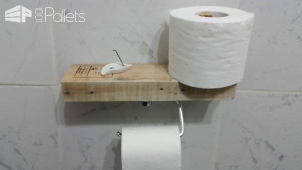 Super-easy Pallet Toilet Paper Holder Pallet Home Decor