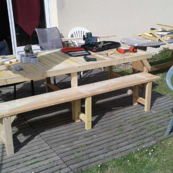 Table & Bench for My Garden