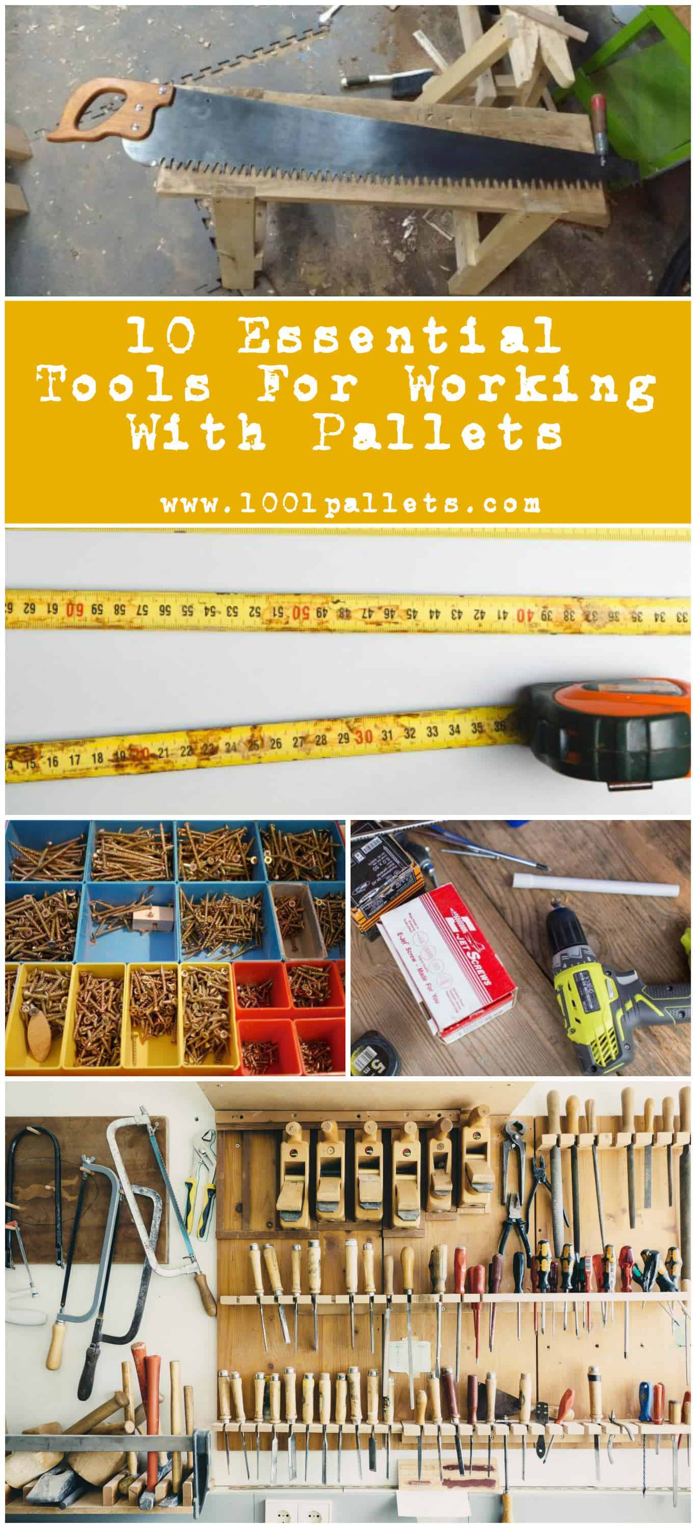 Working with pallets 5 essential woodworking power tools that won - 10 Essential Tools For Working With Pallets Pallet Ideas 1001 Pallets