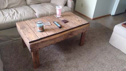 5-hour & 30 Dollars Pallet Coffee Table