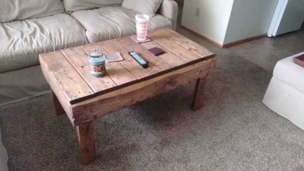 5-hour & 30 Dollars Pallet Coffee Table Pallet Coffee Tables