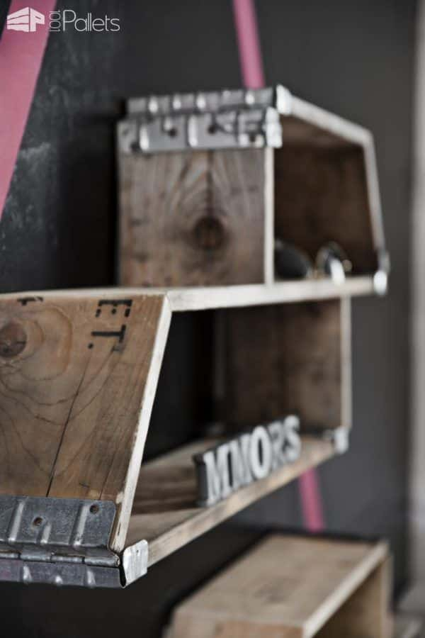 Amarhylde - Racking System Made from Recycled Pallets Pallet Shelves & Pallet Coat Hangers