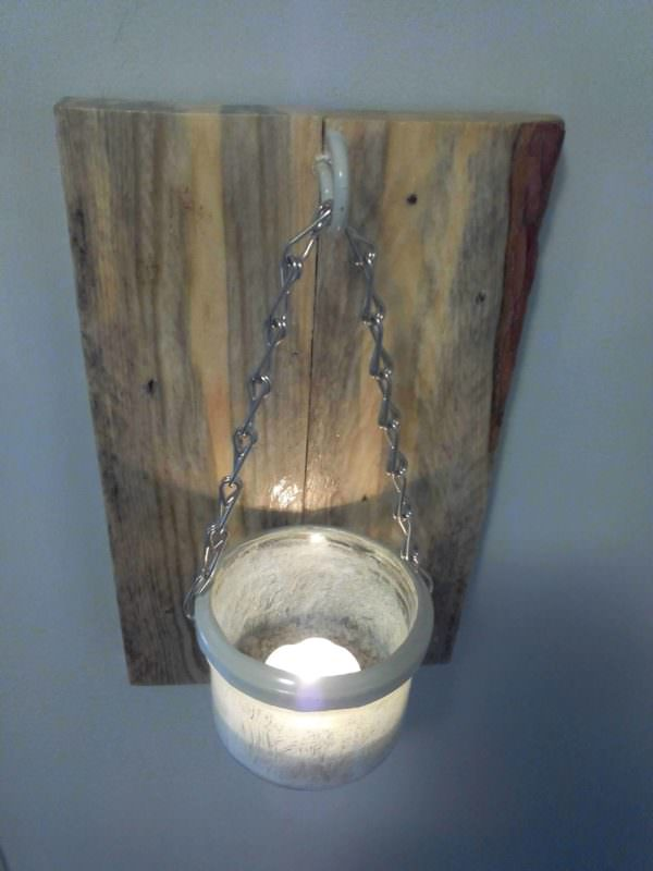 Applique Murale Rustique / Rustic Wall Lamp Pallet Lamps & Lights