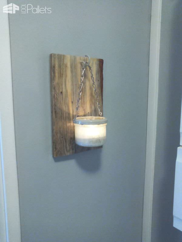 Applique Murale Rustique / Rustic Wall Lamp Pallet Lamps, Pallet Lights & Pallet Lighting