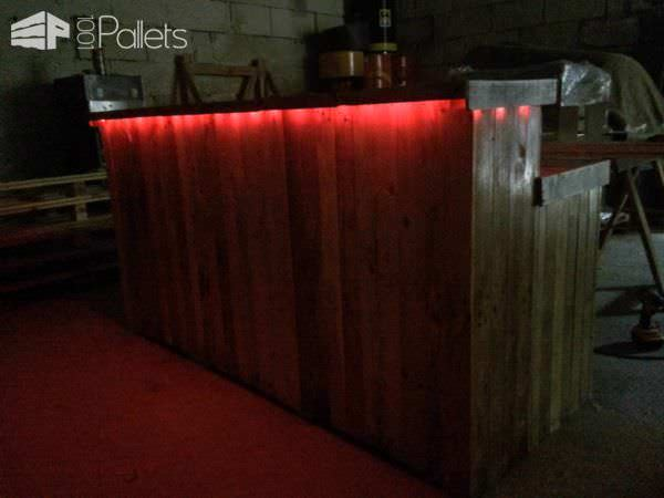 Bar Réalisé Avec Du Bois De Palette / Amazing Bar From Pallet Wood DIY Pallet Bars