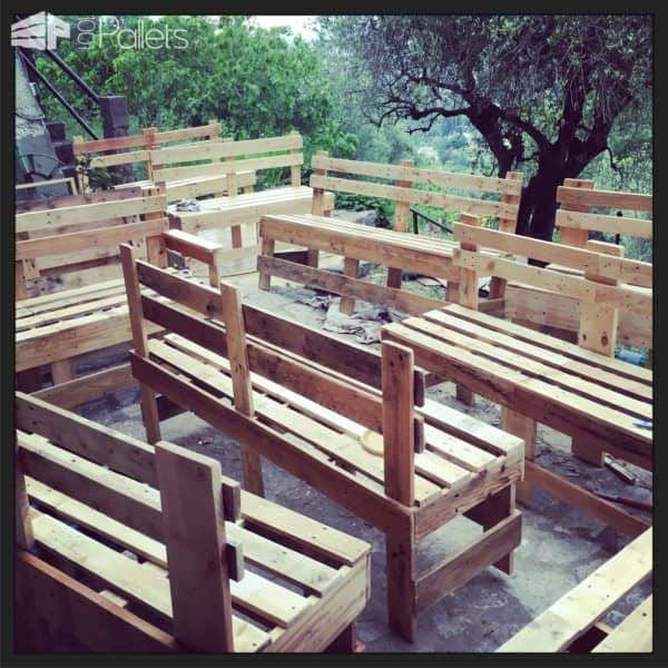 Benches for a Restaurant Pallet Benches, Pallet Chairs & Pallet Stools