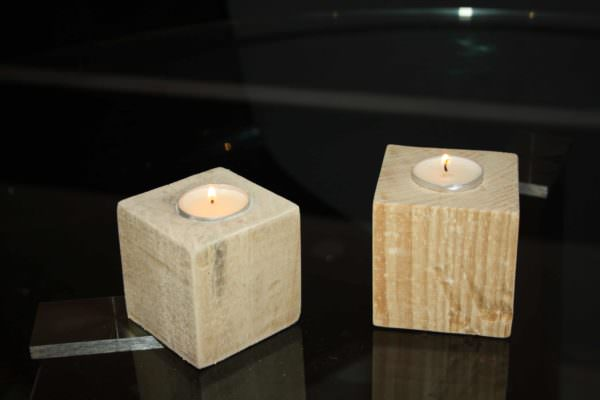 Bougeoir Pieds De Palettes / Pallet Blocks Into Candlesticks Pallet Candle Holders