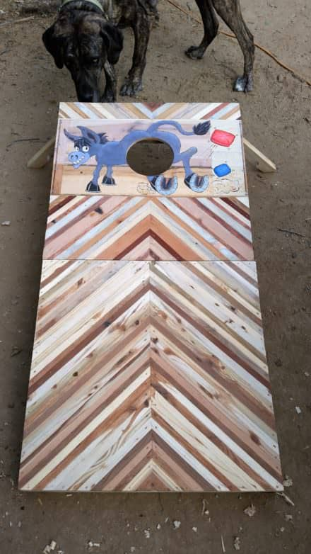 Cornhole Game Board (1st of a Pair) out of Pallet Wood