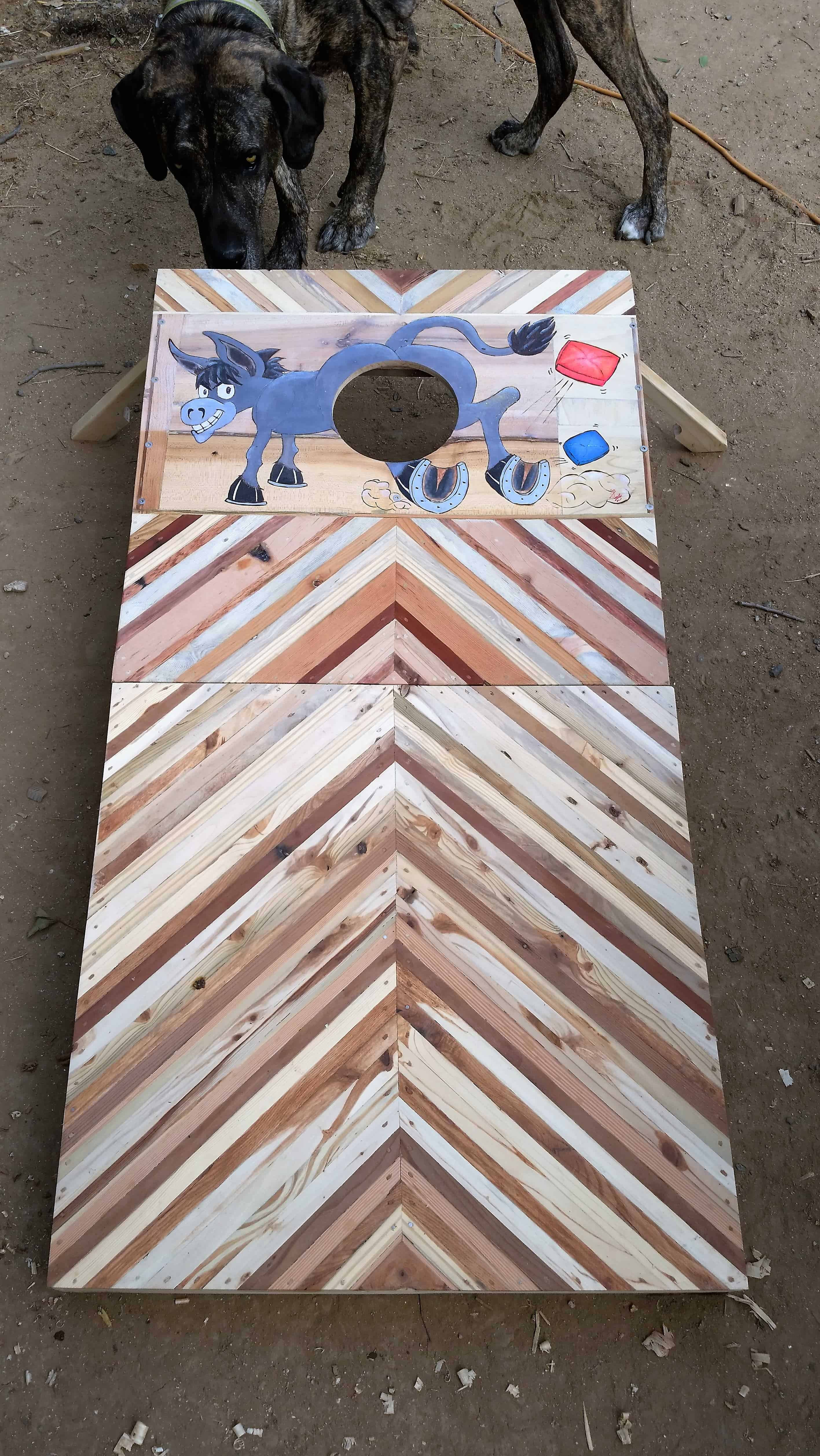 Cornhole Game Board 1st Of A Pair Out Of Pallet Wood