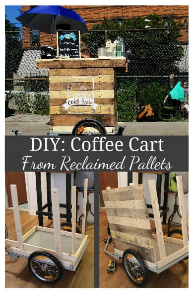 Diy Coffee Cart Made from Reclaimed Pallets in My Tiny N.y.c Appartment