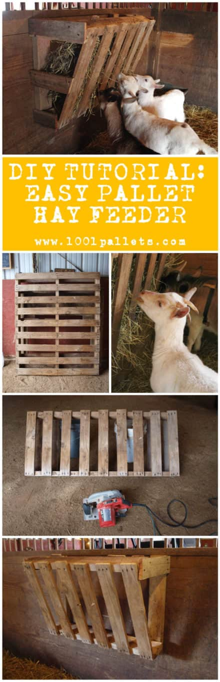 Diy Tutorial: Easy Pallet Hay Feeder