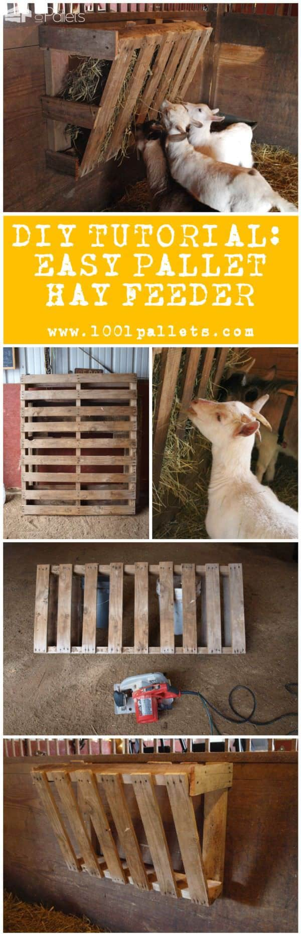 Diy Tutorial: Easy Pallet Hay Feeder Animal Pallet Houses & Pallet Supplies Step-by-step Printable Pallet PDF Tutorials
