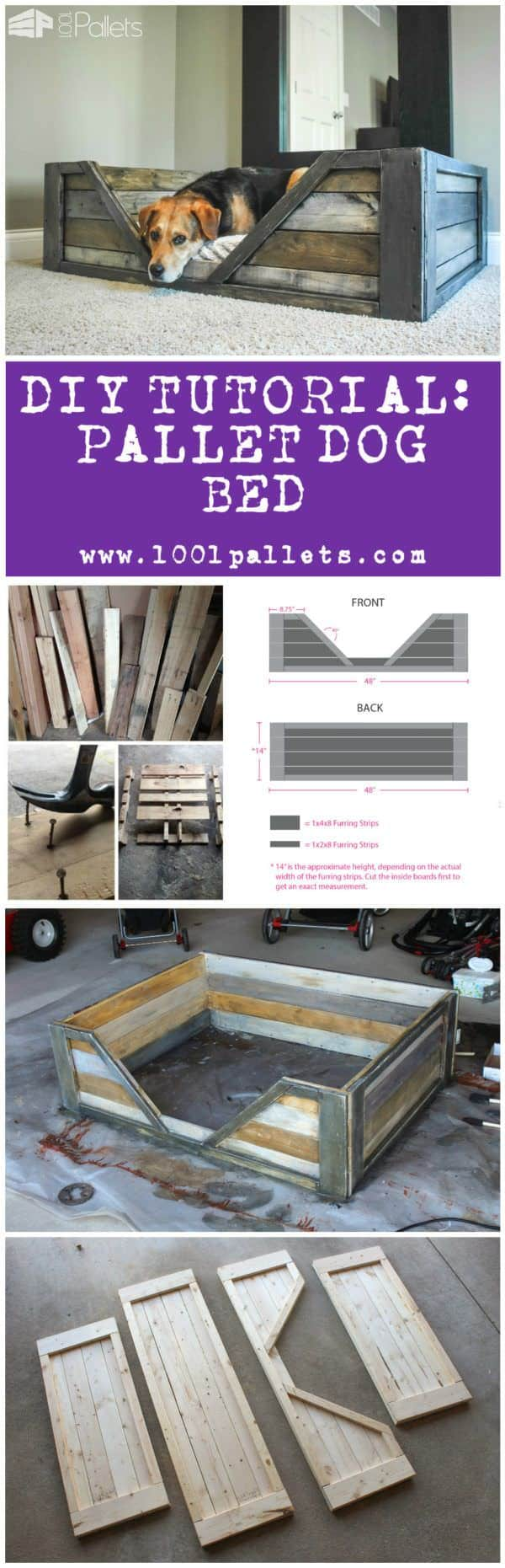 Diy Tutorial: Pallet Dog Bed Animal Pallet Houses & Pallet Supplies Step-By-Step Printable Pallet PDF Tutorials