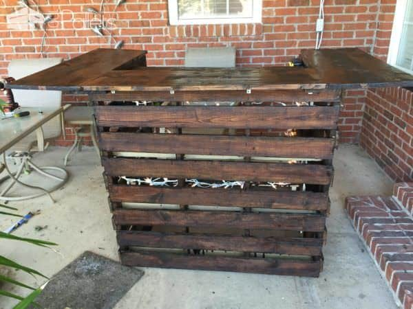 Easy Pallet Bar DIY Pallet Bars