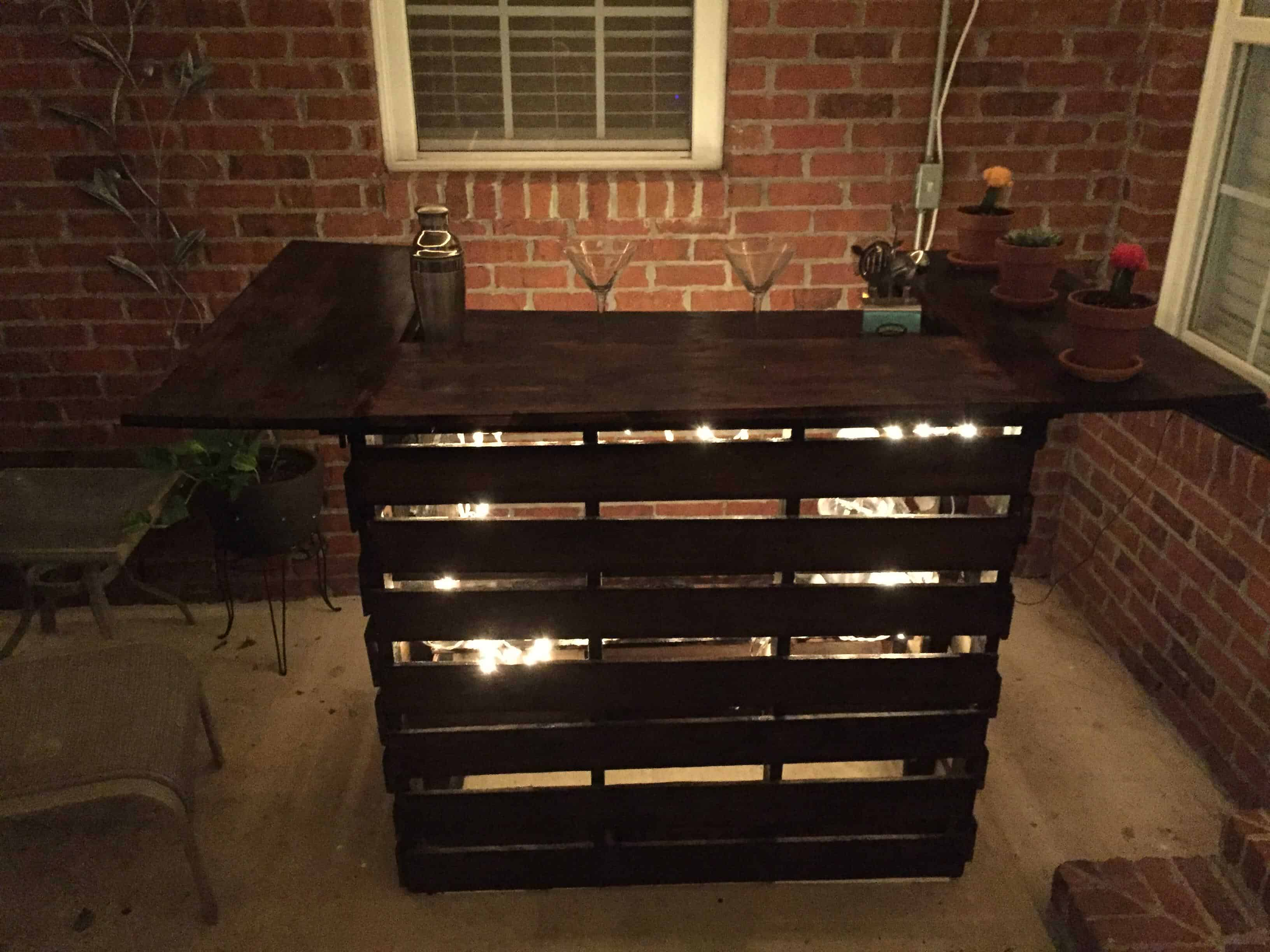 Easy pallet bar 1001 pallets Pallet ideas